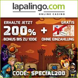 lapalingo casino bonus ohne einzahlung gratis bonus